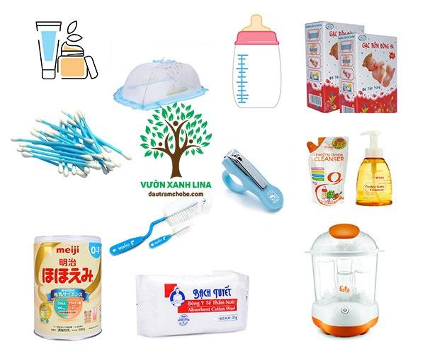 sắm đồ dùng cho trẻ sơ sinh