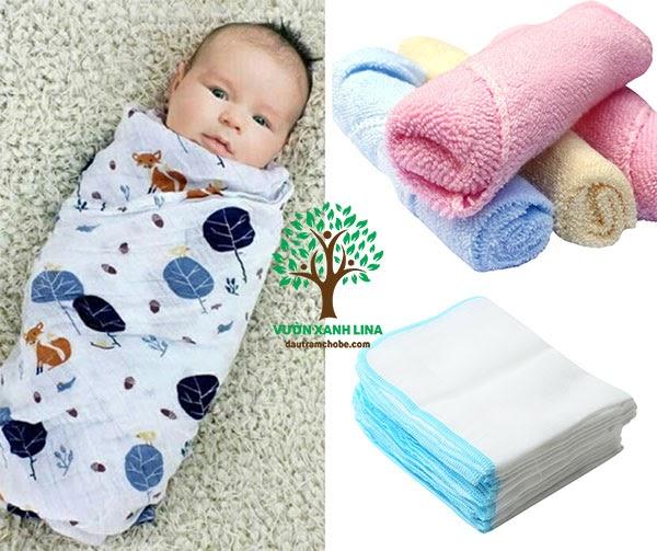 các loại khăn đồ dùng cho trẻ sơ sinh