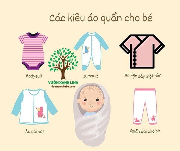 mua áo quần cho trẻ sơ sinh